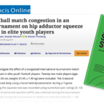 The effects of football match congestion in an international tournament on hip adductor squeeze strength and pain in elite youth players